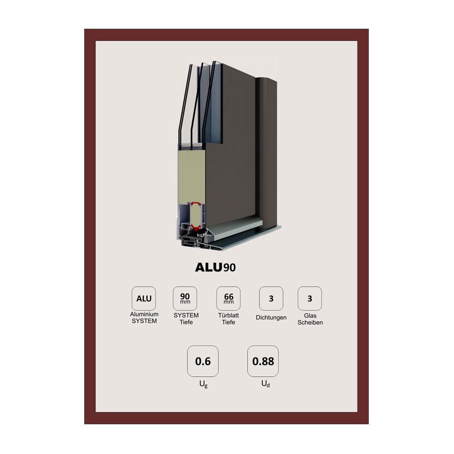 e374ffb1e8cd Welthaus ALU90 alumínium bejárati ajtó - Tofa - ajtó ablak